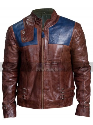 Seg-El Krypton Cameron Cuffe Brown Leather Jacket